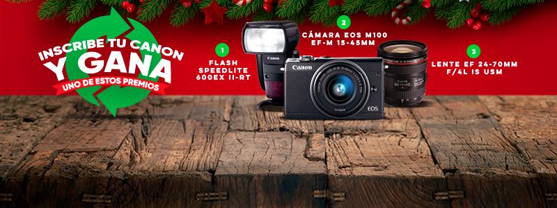 Inscribe tu Canon y gana uno de estos premios