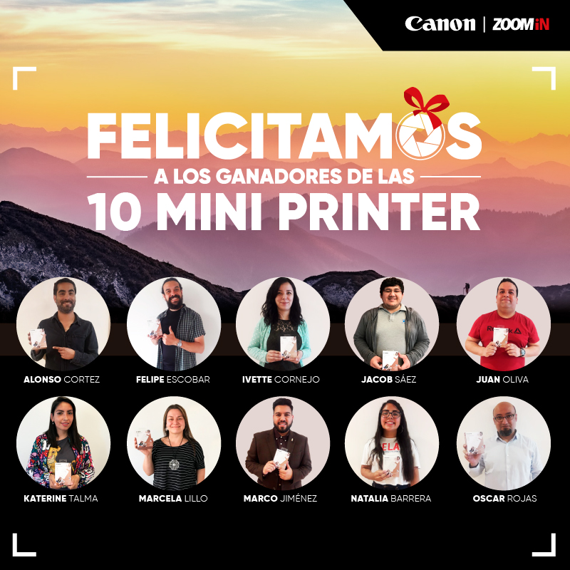 Ganadores ¡Gana una de las 10 Mini Photo Printer!